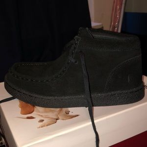 Brand new black suede hush puppies kids size 13